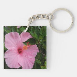 Hawaii Hanauma Bay Hibiscus Flowers Key Ring
