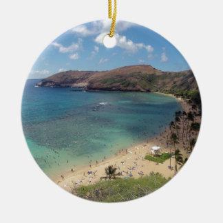 Hawaii Hanauma Bay Oahu Christmas Ornament