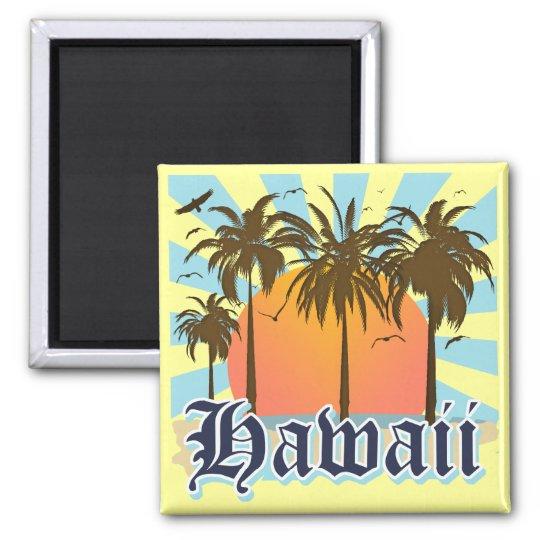 Hawaii Hawaiian Islands Sourvenir Square Magnet