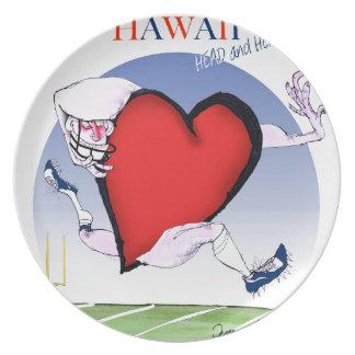 hawaii head heart, tony fernandes plate