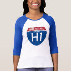 Hawaii HI I-H1 Interstate Highway Shield - T-Shirt