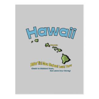 Hawaii HI Motto Haka Tiki Mou Sha ami Leeki Post Cards