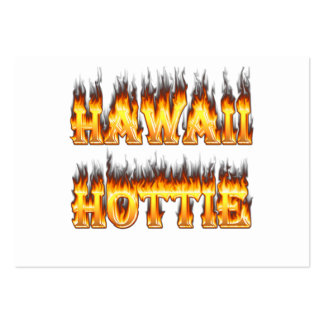 Hawaii Hottie Fire and Flames Pack Of Chubby Business Cards