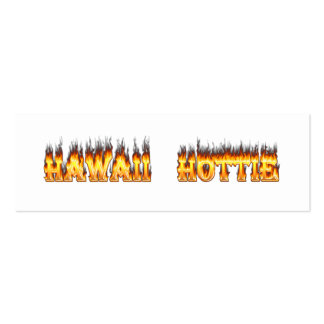 Hawaii Hottie Fire and Flames Pack Of Skinny Business Cards