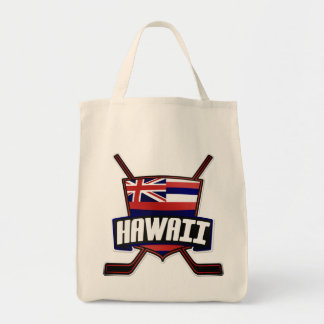 Hawaii Ice Hockey Flag Logo Tote Bag