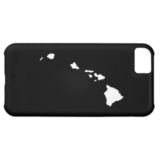 Hawaii in White and Black iPhone 5C Case