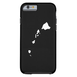Hawaii in White and Black Tough iPhone 6 Case