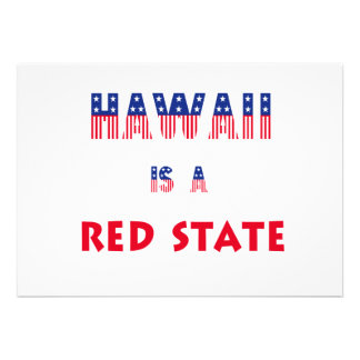 Hawaii is a Red State Announcement