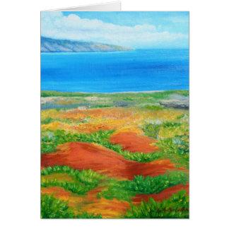 Hawaii Island Lanai Landscape Card