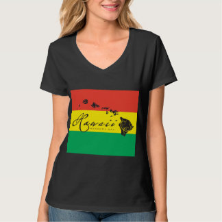 Hawaii Island Reggae Flag T-Shirt