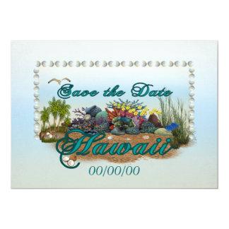 Hawaii island Save the Date 13 Cm X 18 Cm Invitation Card