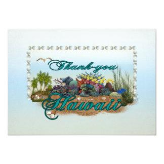 Hawaii island Thank you 13 Cm X 18 Cm Invitation Card