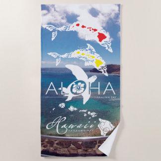 Hawaii Islands Aloha Beach Towel