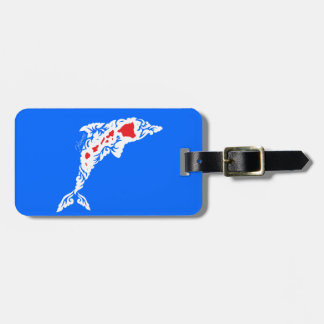 Hawaii Islands Dolphin Luggage Tag