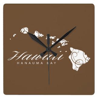 Hawaii Islands Square Wall Clock