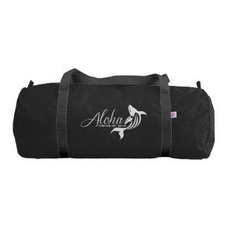 Hawaii Islands Whale Bag Gym Duffel Bag