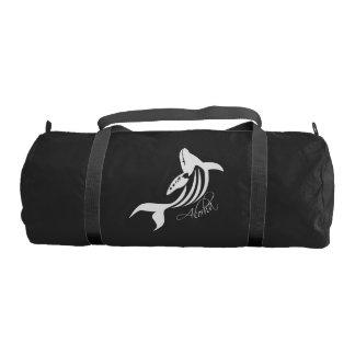 Hawaii Islands Whale Bag. Gym Duffel Bag