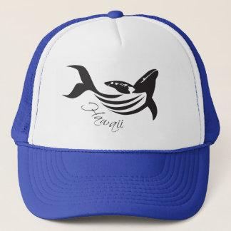 Hawaii Islands Whale Trucker Hat