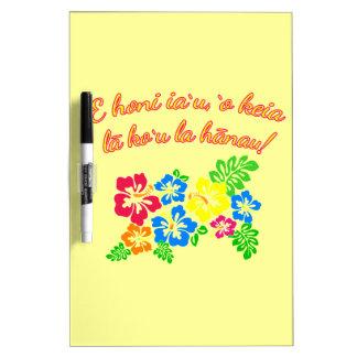HAWAII Kiss Me It's My Birthday in Hawaiian Dry Erase Whiteboards