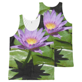 Hawaii Lotus Flower All-Over Print Tank Top