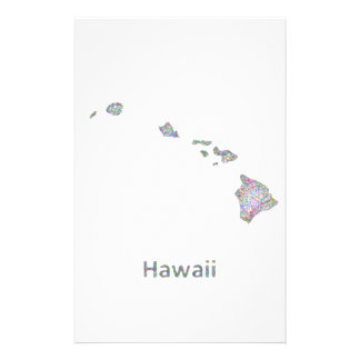 Hawaii map 14 cm x 21.5 cm flyer