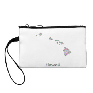 Hawaii map change purse