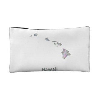 Hawaii map cosmetic bags