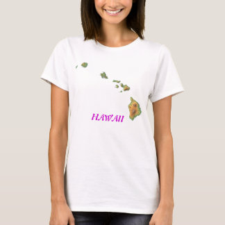 hawaii-map, HAWAII T-Shirt