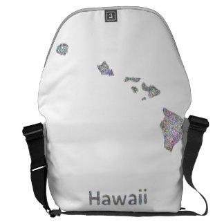 Hawaii map messenger bags