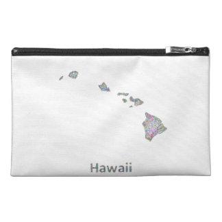 Hawaii map travel accessories bag