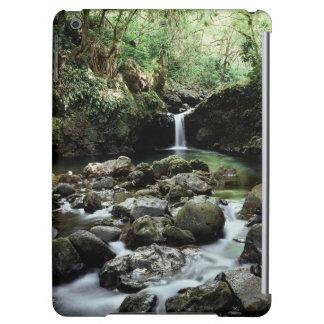 Hawaii, Maui, A waterfall flows into Blue Pool