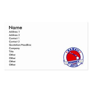 Hawaii Mitt Romney Business Card Template