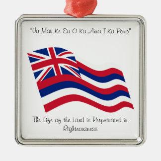Hawaii motto christmas ornament