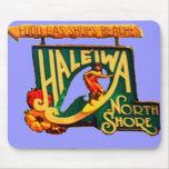Hawaii North Shore Beach Sign mousepad
