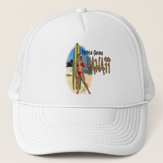 Hawaii North Shore Surfer Girl Hat