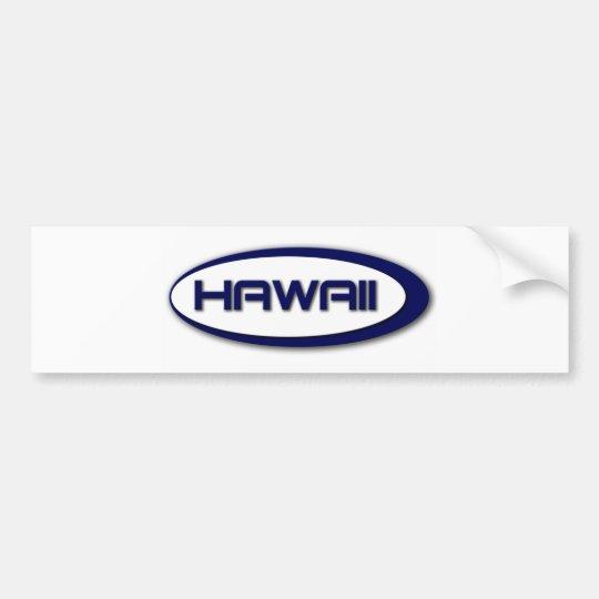 Hawaii Oval Bumper Sticker