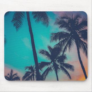 Hawaii Palm Trees At Sunset Mouse Mat