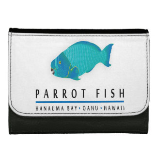 Hawaii Parrot Fish Wallets For Women