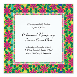 Hawaii Passion Hot Pink Tropical Flower Power 13 Cm X 13 Cm Square Invitation Card