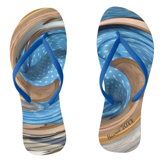 Hawaii Personalised Flip Flops