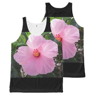 Hawaii Pink Hibiscus Flower All-Over Print Tank Top