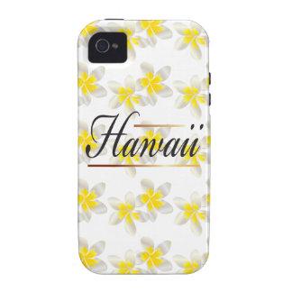 Hawaii Plumeria Flowers Case-Mate iPhone 4 Case