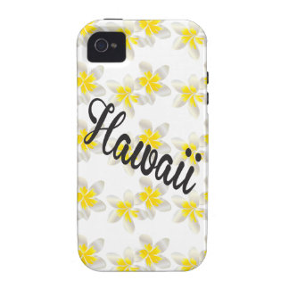 Hawaii Plumeria Flowers iPhone 4 Cases