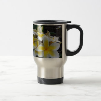 Hawaii Plumeria Flowers Travel Mug
