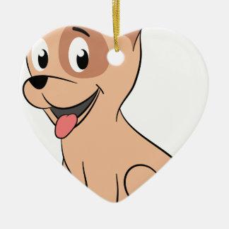 hawaii puppy ceramic heart decoration