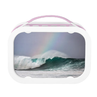 Hawaii Rainbow Colorful Wave Lunch Box