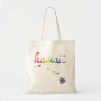Hawaii Rainbow State Tote Bag