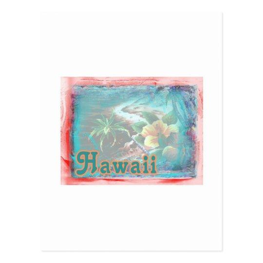 Hawaii Red Floral Postcard