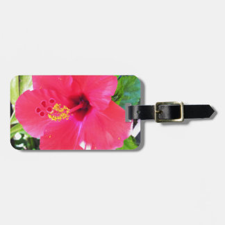 Hawaii Red Hibiscus Flower Luggage Tag