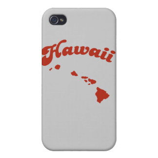 HAWAII Red State Cases For iPhone 4